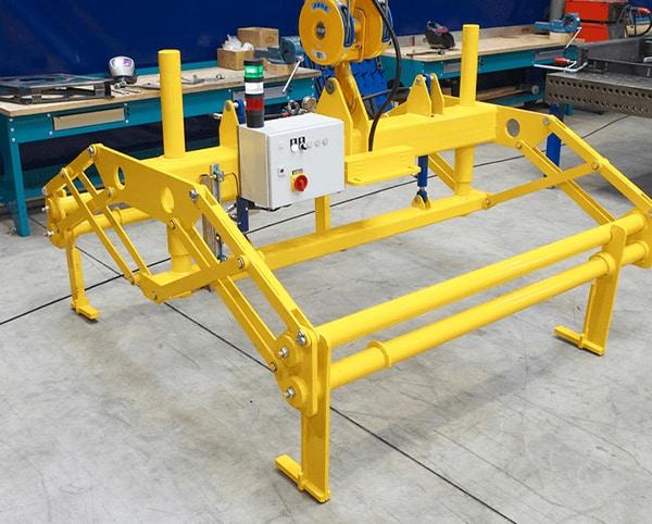 Hülsmann Blech Sonderanfertigung für den Maschinen- und Anlagenbau, gelbes Gerüst